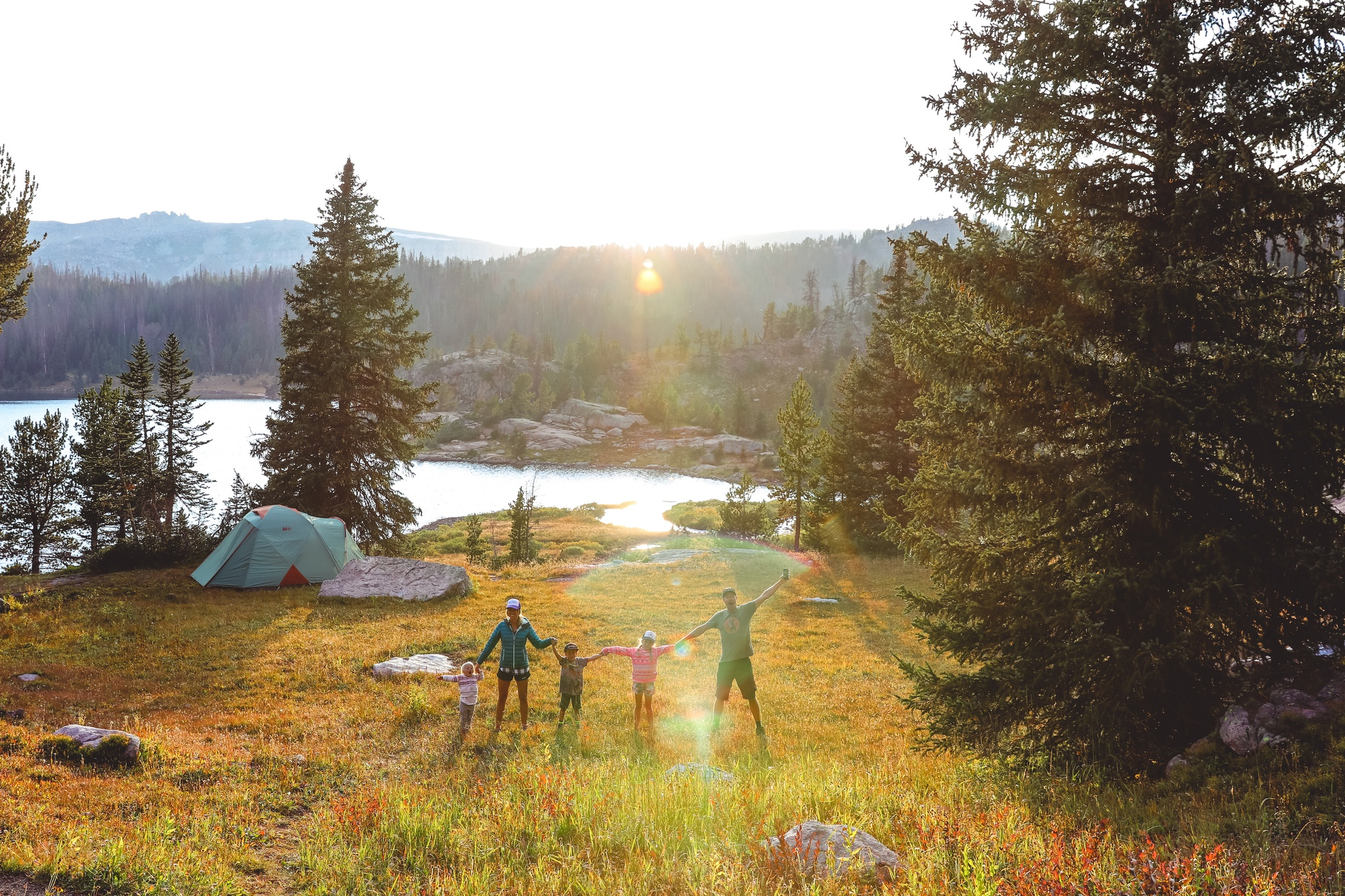 Wild Blue Family Camping in the Beartooth Mountains of Montana
